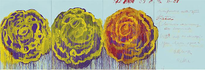 The Rose (III), 2008 by Cy Twombly