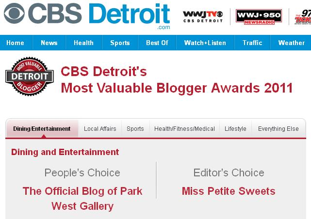 CBS Detroit's Most Valuable Blogger Awards 2011, park west gallery