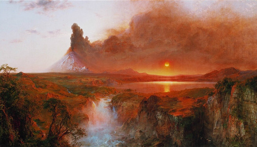 """Cotopaxi"" (1862) by Frederic Edwin Church, Detroit Institute of Arts."
