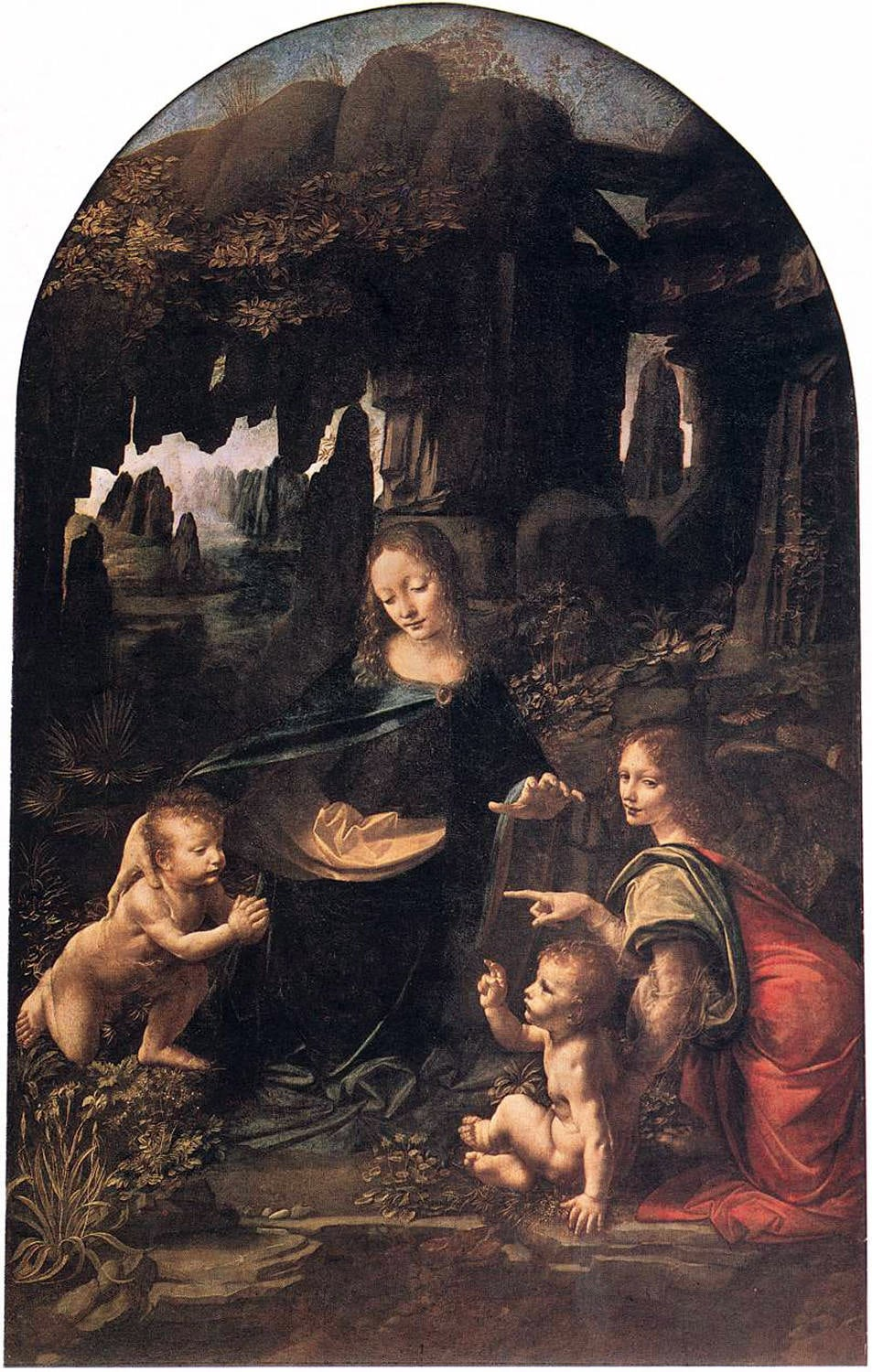 """Madonna on the Rocks"" (1492) by Leonardo da Vinci, National Gallery of London."