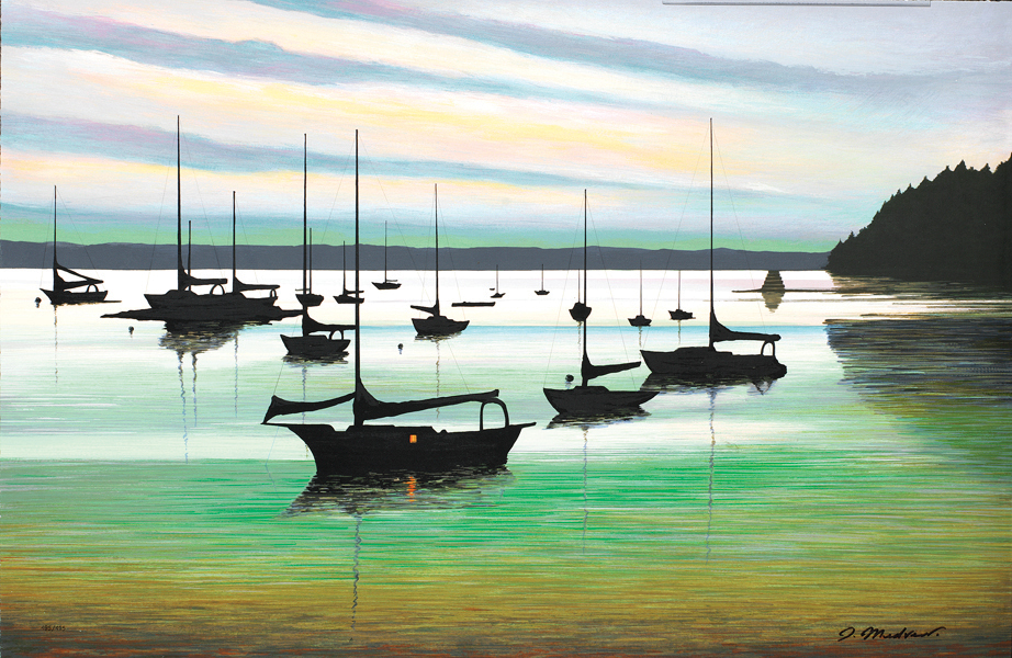 """Emerald Harbor"" (2005) by Igor Medvedev, Park West Gallery."