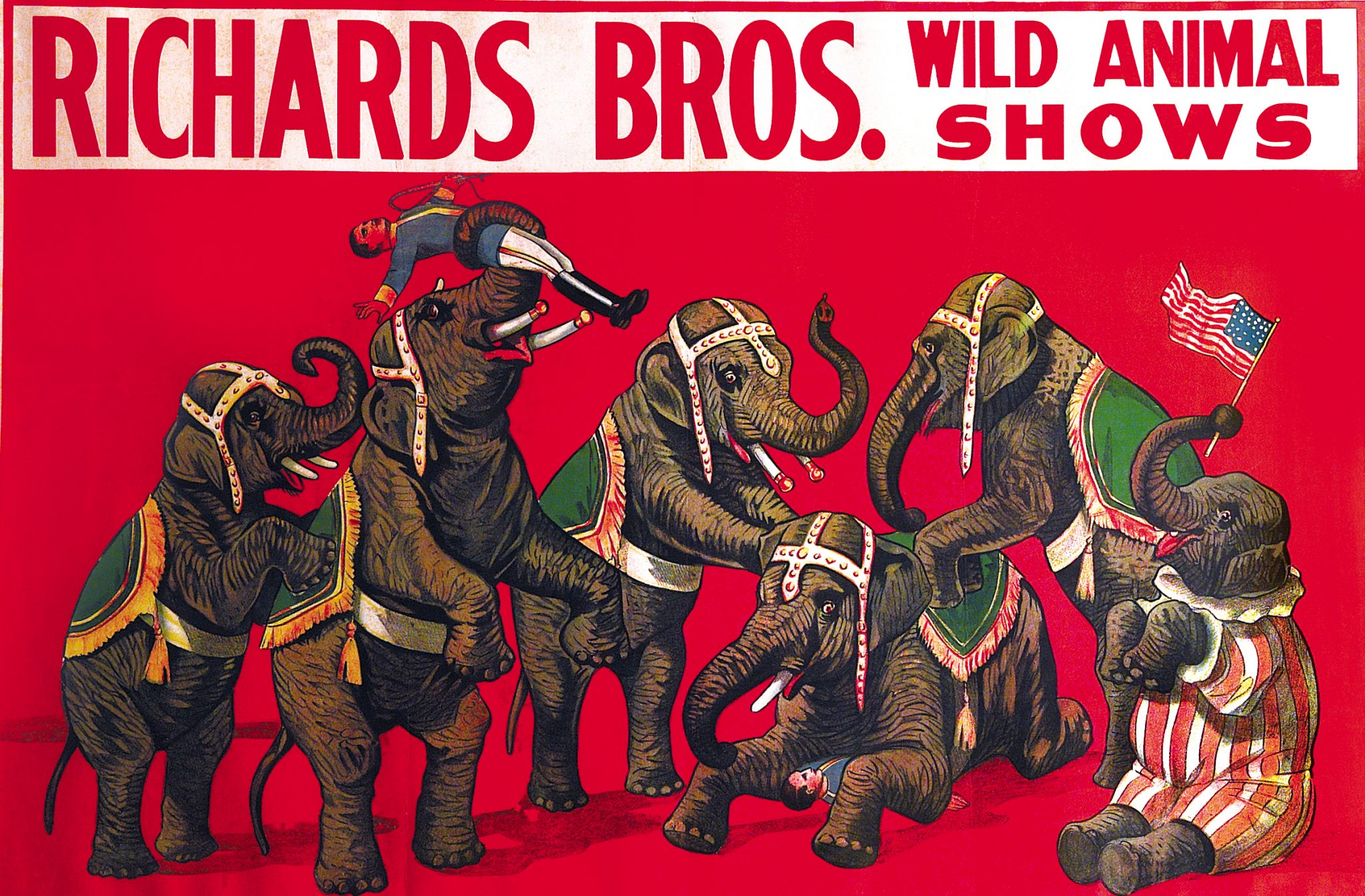 Vintage Poster, Richard Bros./Wild Animal Shows, c.1900. Park West Gallery Collection.