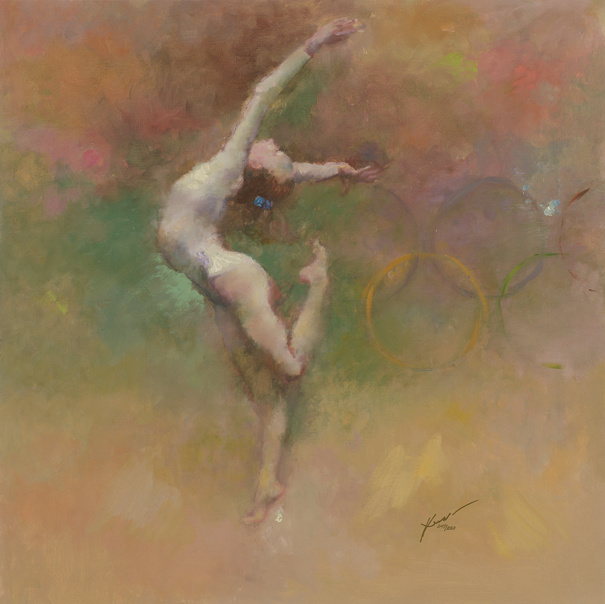 """Olympic Dreams"" (2008), Hua Chen. Park West Gallery Collection"