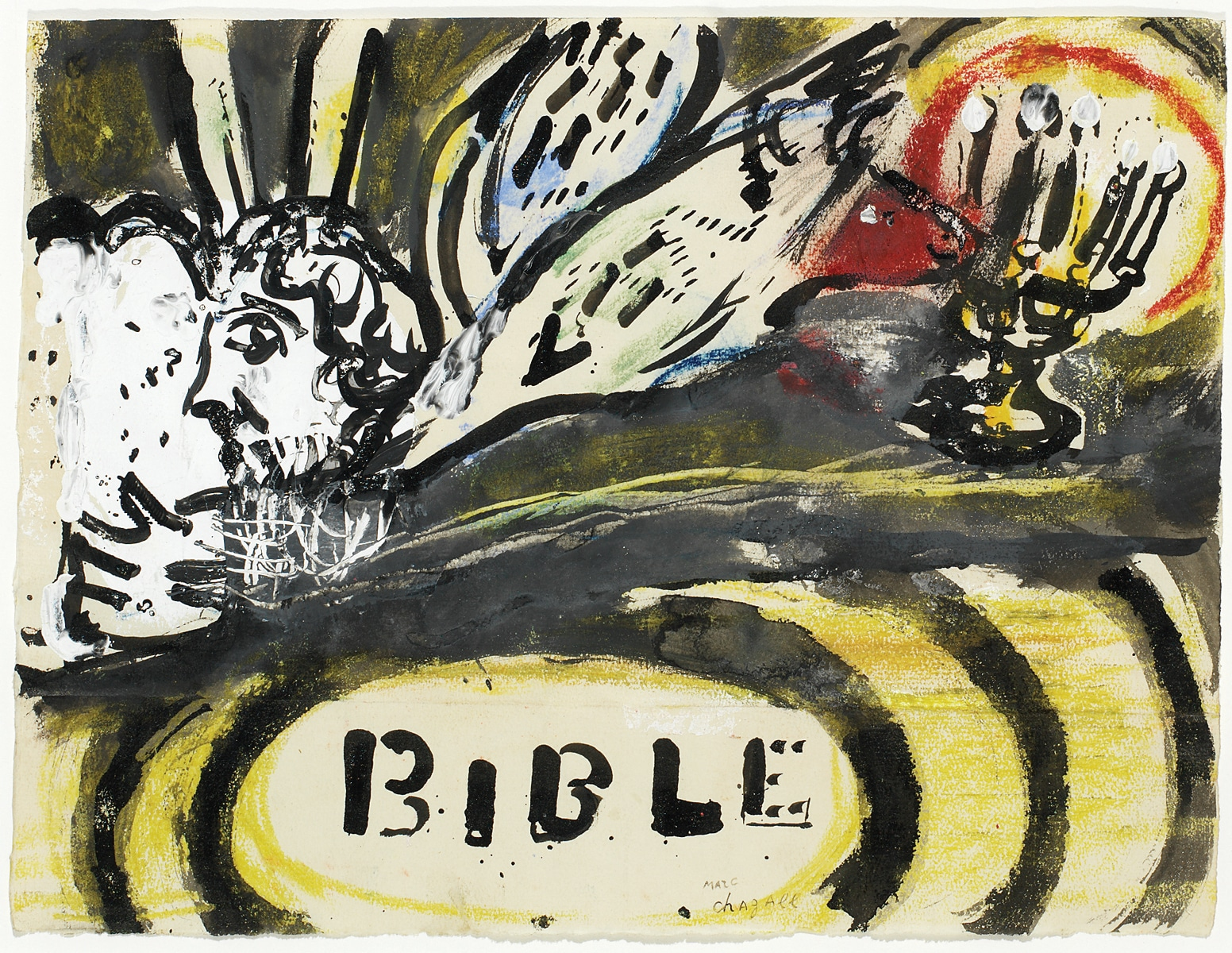 """Projet de couverture non-utilisee; Bible"" (1956), Marc Chagall, Park West Gallery"