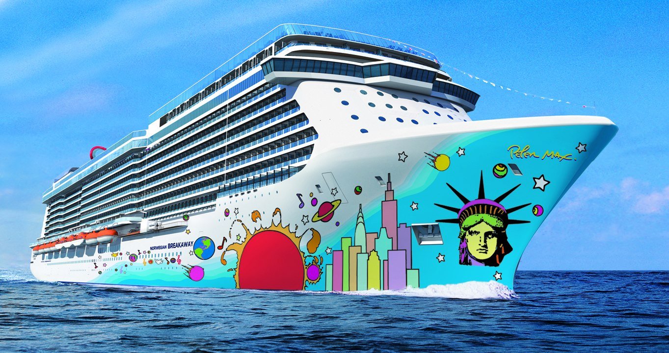 Revealed! Peter Maxu0026#39;s Norwegian Breakaway Hull Art - Park West Gallery